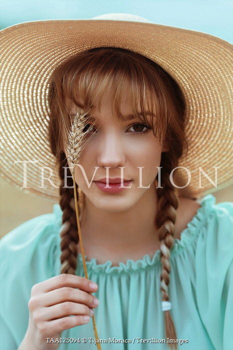 Tijana Moraca GIRL WITH PLAITS AND STRAW HAT Women