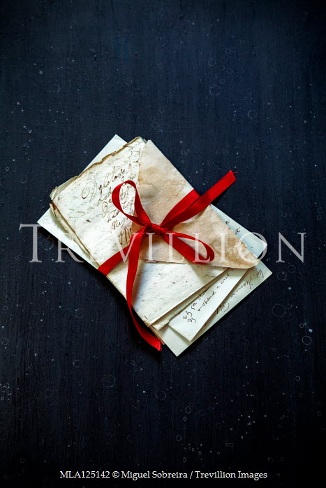 Miguel Sobreira HISTORICAL LETTERS TIED WITH RED RIBBON Miscellaneous Objects