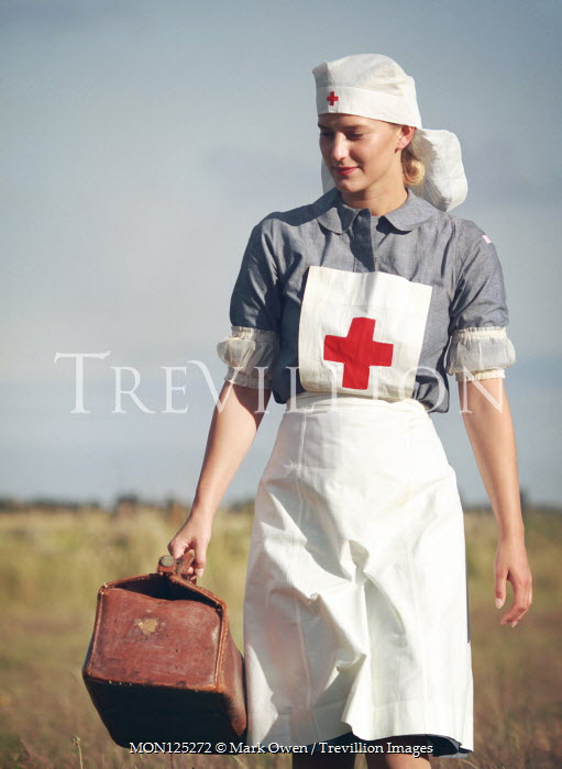 Mark Owen BLONDE NURSE CARRYING CASE IN COUNTRYSIDE Women