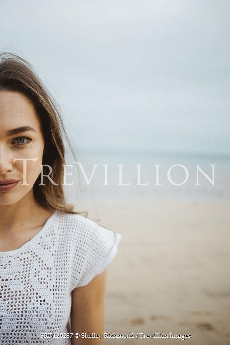Shelley Richmond BRUNETTE GIRL ON SANDY BEACH Women