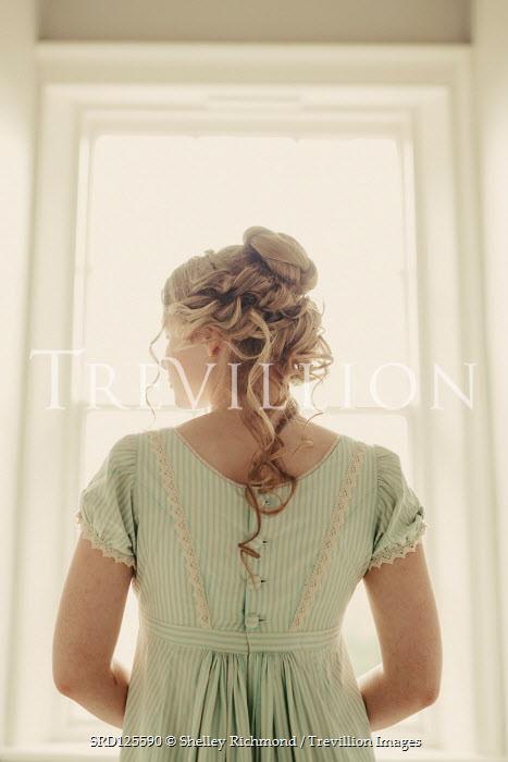 Shelley Richmond REGENCY WOMAN WATCHING AT WINDOW INDOORS Women