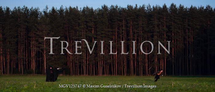 Maxim Guselnikov MAN SHOOTING MALE NEAR FOREST Men