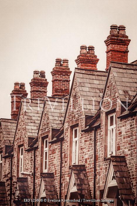 Evelina Kremsdorf HISTORICAL STONE TERRACED HOUSES WITH CHIMNEYS Houses