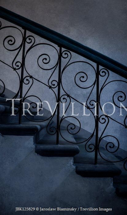 Jaroslaw Blaminsky STONE STEPS WITH DECORATIVE WROUGHT IRON Stairs/Steps