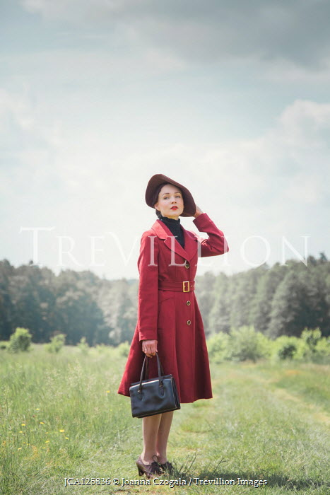 Joanna Czogala RETRO WOMAN STANDING IN COUNTRYSIDE Women