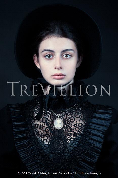 Magdalena Russocka historical woman in black inside