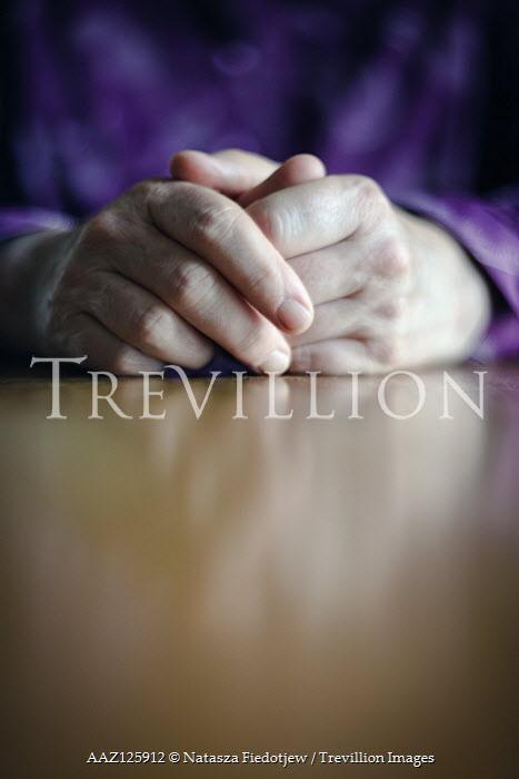 Natasza Fiedotjew ELDERLY FEMAL HANDS ON TABLE Old People