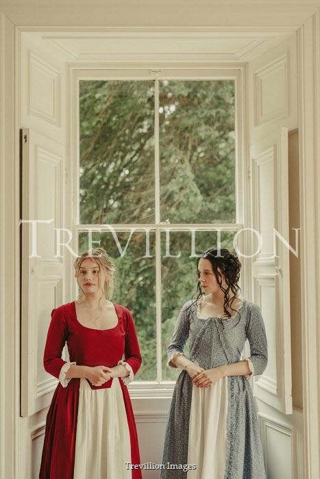 Shelley Richmond TWO HISTORICAL WOMEN STANDING BY INDOOR WINDOW Women