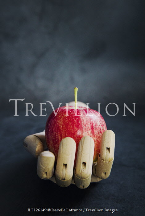 Isabelle Lafrance WOODEN MANNEQUIN HAND HOLDING APPLE Miscellaneous Objects