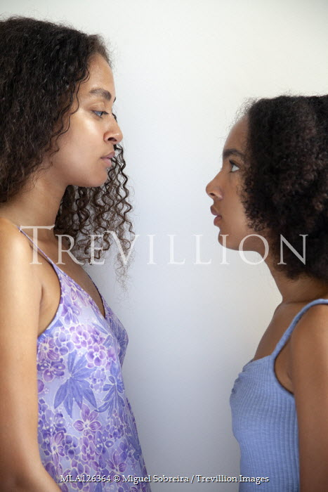 Miguel Sobreira TWO YOUNG GIRLS OF AFRICAN DESCENT IN PROFILE Children