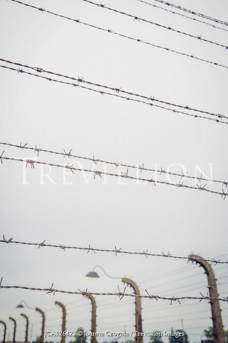 Joanna Czogala PRISON FENCES WITH BARBED WIRE Gates