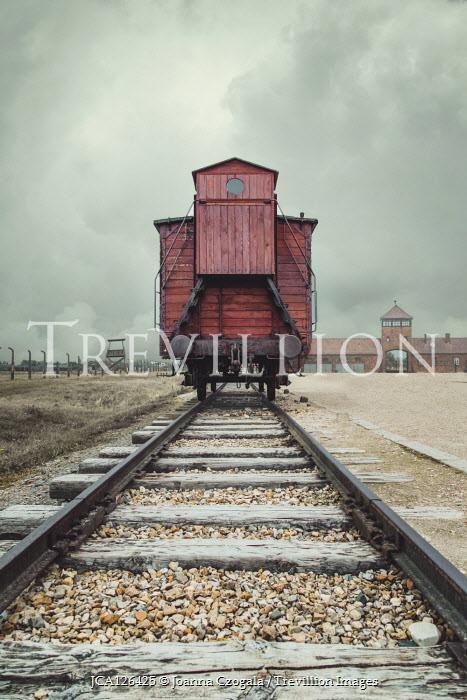 Joanna Czogala TRAIN ON TRACKS OUTSIDE CONCENTRATION CAMP Railways/Trains