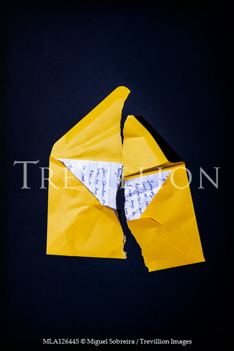 Miguel Sobreira TORN LETTER AND YELLOW ENVELOPE Miscellaneous Objects