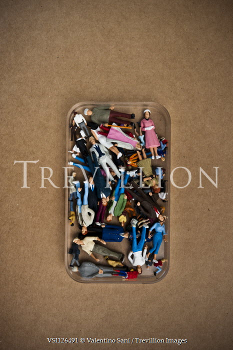 Valentino Sani CONTAINER OF RETRO PLASTIC FIGURES Miscellaneous Objects