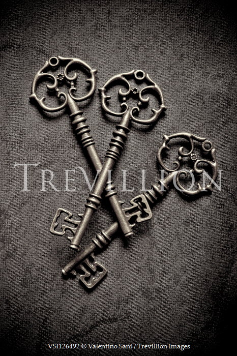 Valentino Sani THREE ORNATE ANTIQUE KEYS Miscellaneous Objects