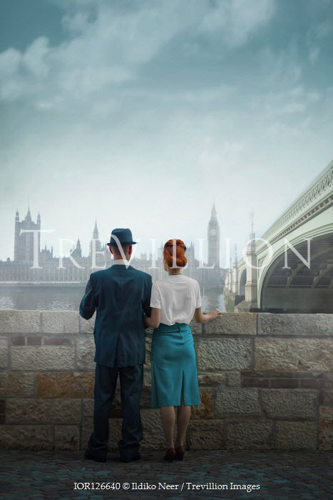 Ildiko Neer Vintage couple standing in London
