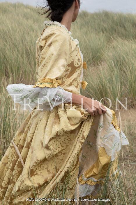 Matilda Delves HISTORICAL WOMAN WALKING IN SAND DUNES Women