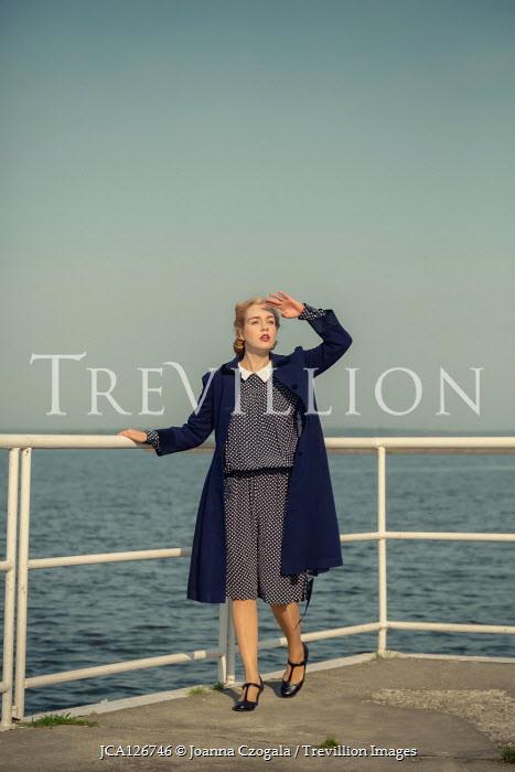 Joanna Czogala BLONDE RETRO WOMAN BY SEA WATCHING SKY Women