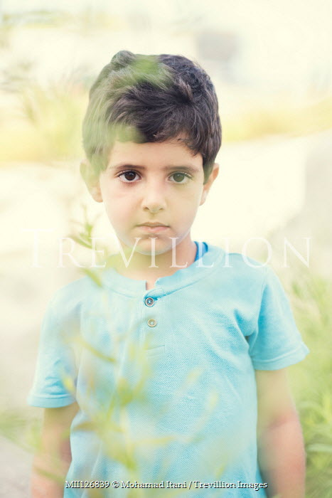 Mohamad Itani SAD LITTLE BOY OUTDOORS IN SUMMER Children
