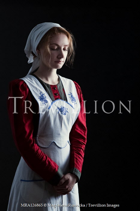 Magdalena Russocka HISTORICAL MAID IN APRON AND HEADSCARF Women