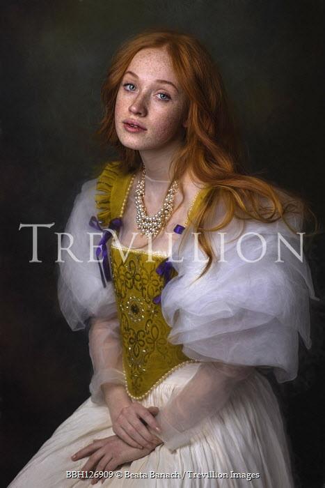 Beata Banach Portrait of young woman historical dress
