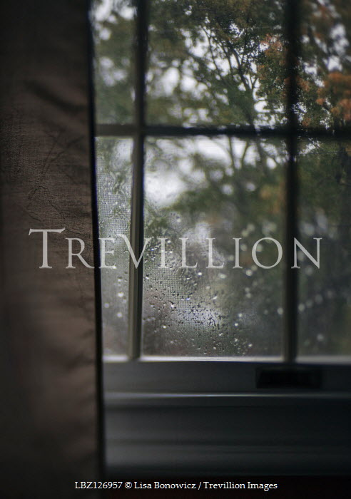 Lisa Bonowicz Rain drops on window