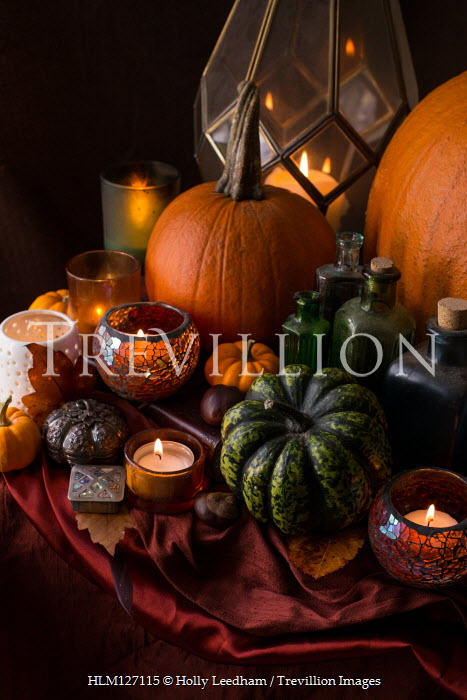 Holly Leedham Pumpkins and candles