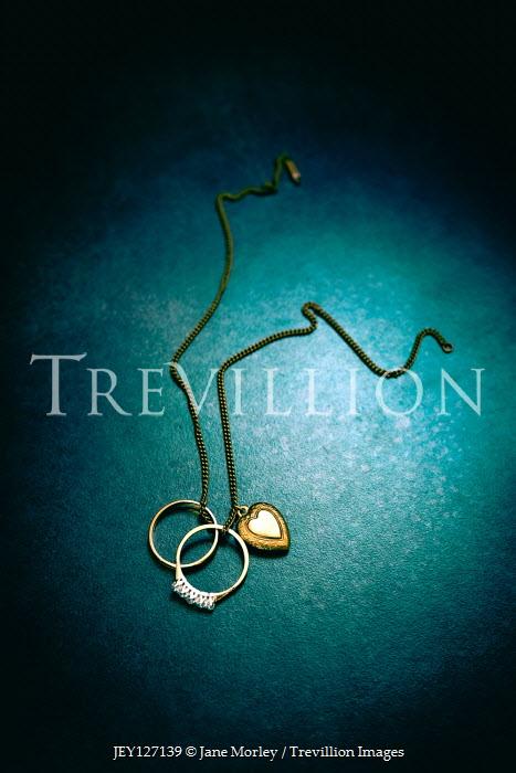 Jane Morley Heart locket and wedding rings