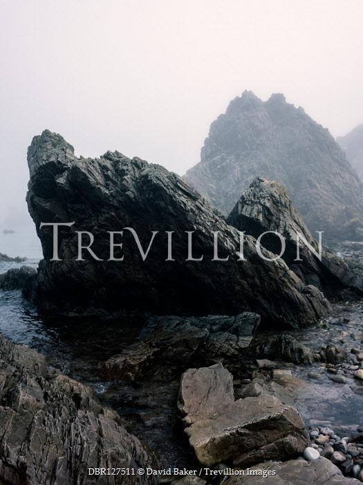 David Baker Rock formation by sea