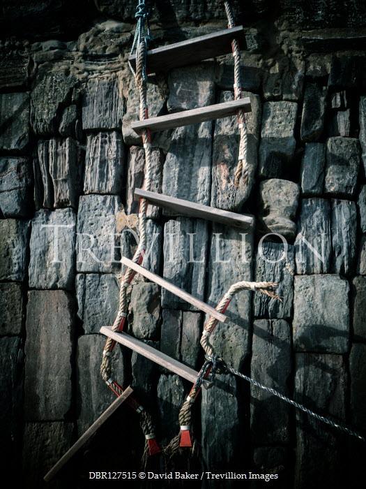David Baker Broken ladder and stone wall