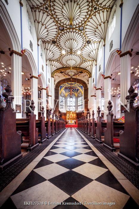 Evelina Kremsdorf Aisle of St John's Church in Edinburgh, Scotland, UK