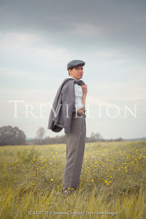 Joanna Czogala 1940s young man standing in field