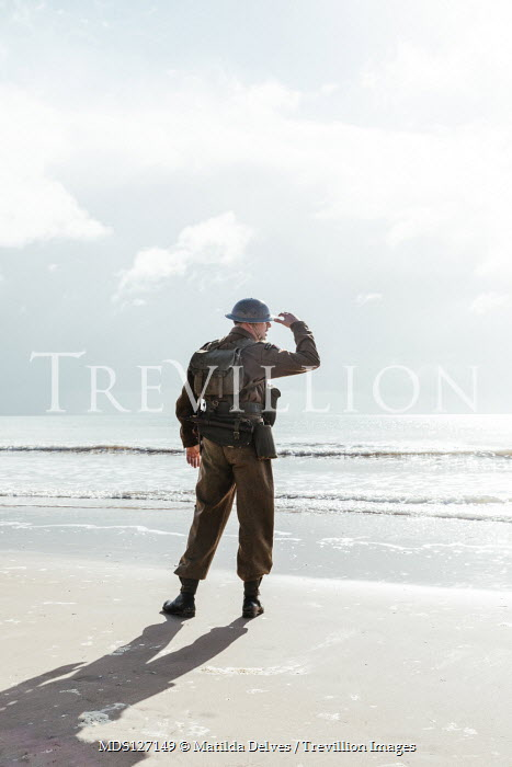 Matilda Delves Soldier standing on beach