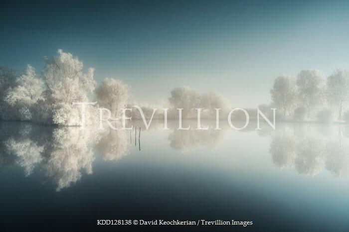 David Keochkerian MISTY RIVER WITH SNOWY TREES Lakes/Rivers