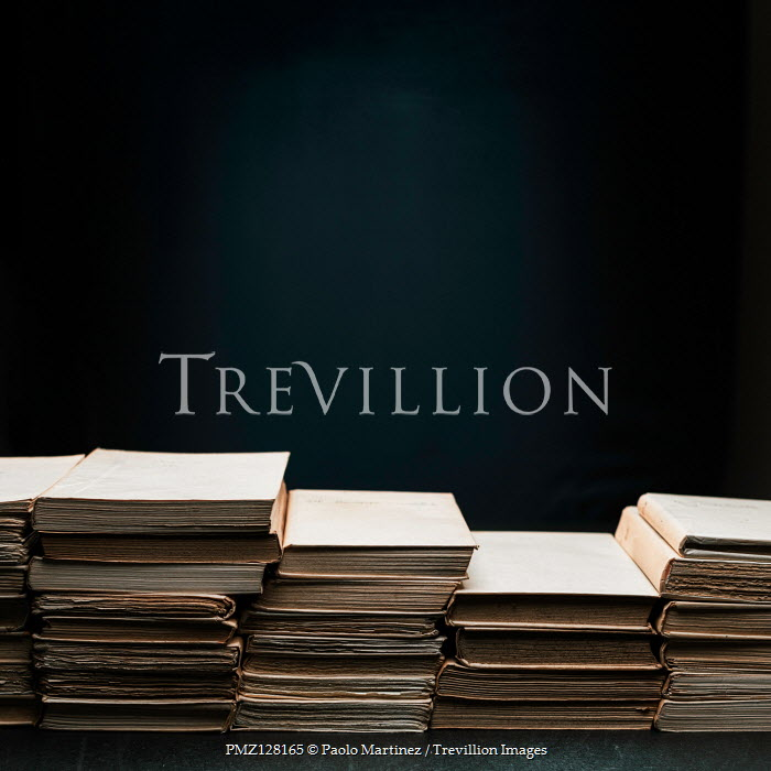 Paolo Martinez STACKS OF BROWN BOOKS Miscellaneous Objects