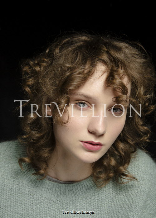 Virginia Ateh SERIOUS YOUNG GIRL WITH BROWN CURLY HAIR Women