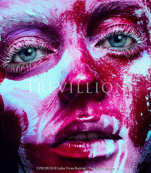 Lidia Vives Rodrigo Close up of young woman in face paint