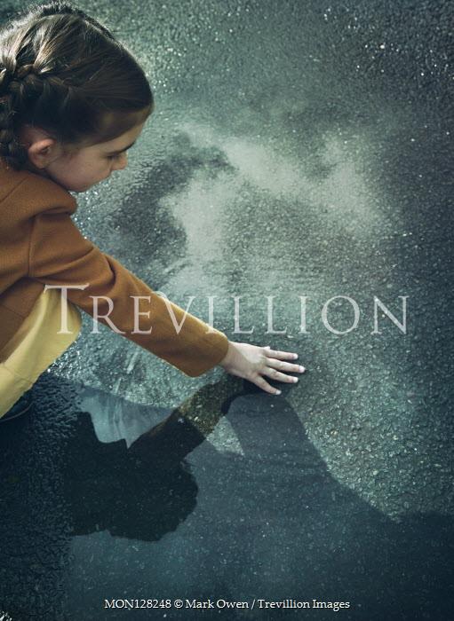 Mark Owen Girl touching puddle