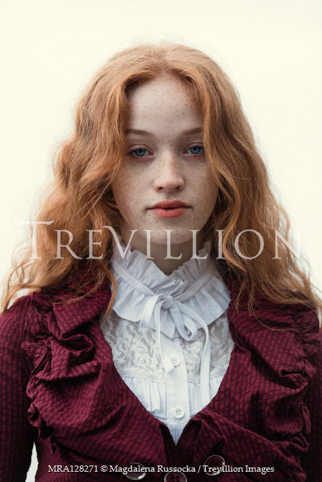 Magdalena Russocka HISTORICAL WOMAN WITH RED HAIR AND FRECKLES Women