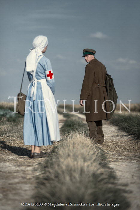 Magdalena Russocka wartime soldier and nurse in field