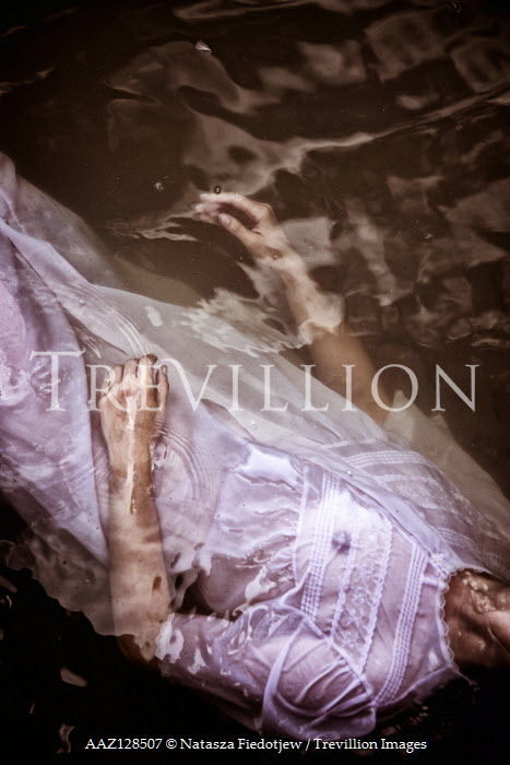 Natasza Fiedotjew WOMAN IN NIGHTGOWN FLOATING IN WATER Women