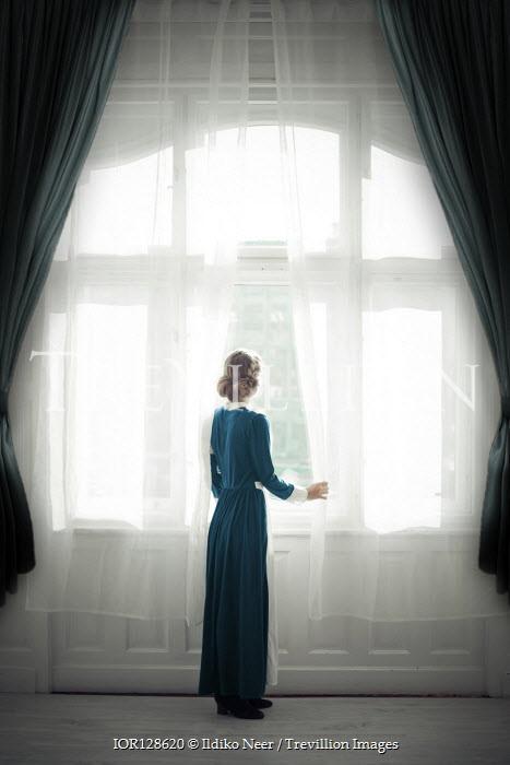 Ildiko Neer Wartime nurse looking out window