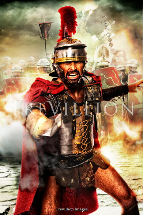 Nik Keevil ROMAN SOLDIER AND ARMY ATTACKING Groups/Crowds