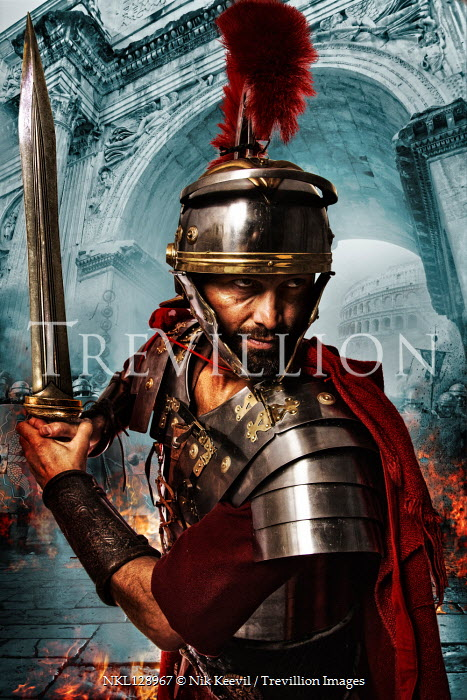 Nik Keevil ROMAN SOLDIER WITH SWORD BY GRAND ARCHWAY Men