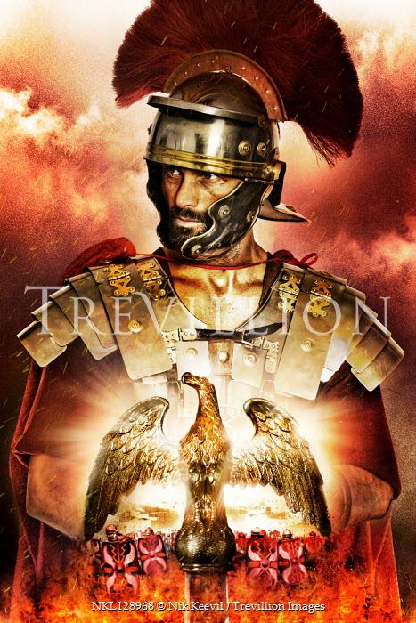 Nik Keevil ROMAN SOLDIER WITH GOLDEN EAGLE Men