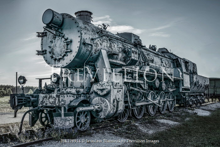 Jaroslaw Blaminsky DECAYING LOCOMOTIVE TRAIN OUTDOORS Railways/Trains