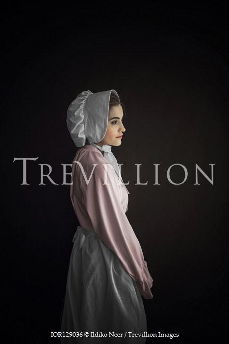 Ildiko Neer Victorian maid in bonnet