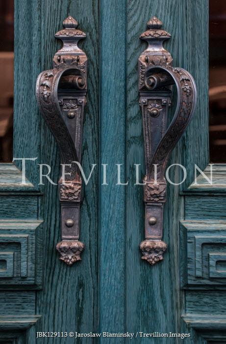 Jaroslaw Blaminsky Ornate handles of blue doors