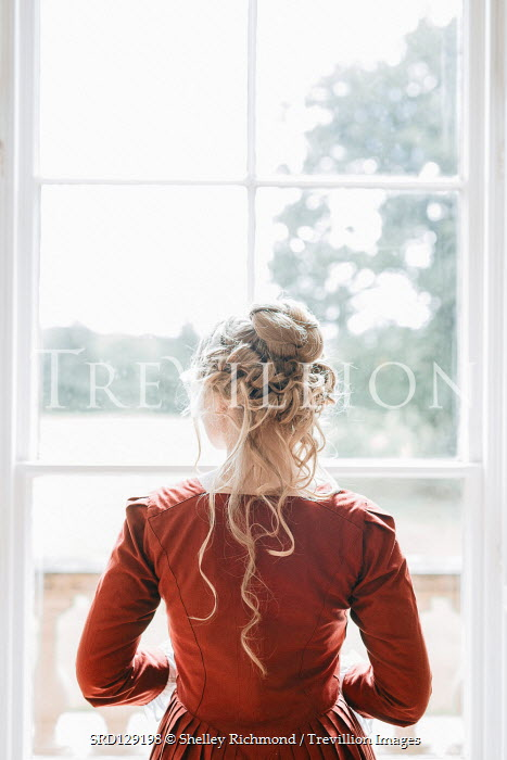 Shelley Richmond Victorian woman by window from behind