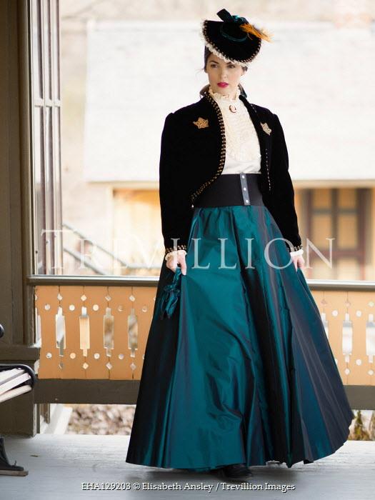 Elisabeth Ansley Victorian woman standing on balcony